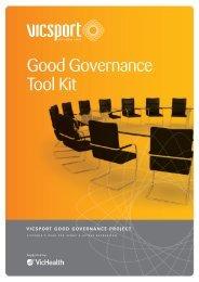 Good Governance Tool Kit - VicSport