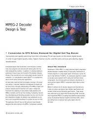 Tektronix: Applications > MPEG-2 Decoder Design & Test