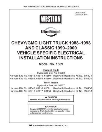 hydraulic box 56588 56777 harness kit 61590 61591 light kit ii harness kit relay light system 2b hb 3 hb 4