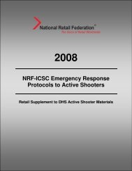NRF-ICSC Emergency Response Protocols to Active Shooters
