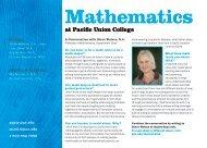 Mathematics - Pacific Union College