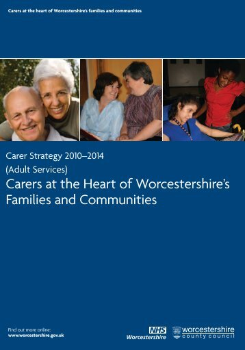 Carers Strategy 2010 - Worcestershire County Council
