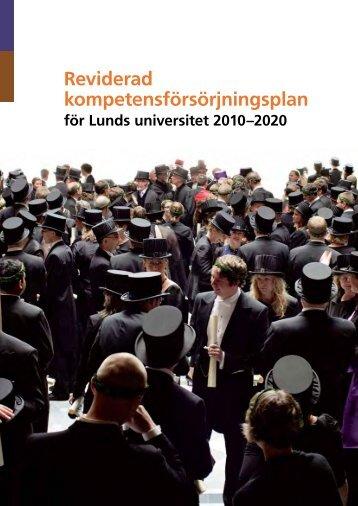 Reviderad kompetensförsörjningsplan - Lunds universitet