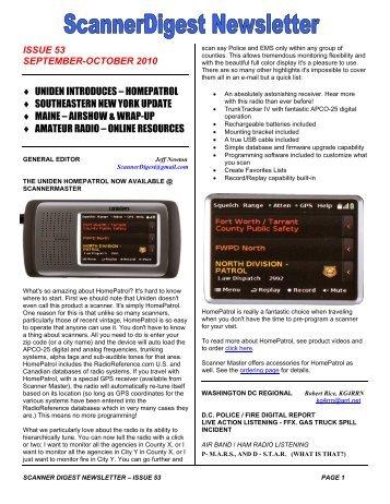 Issue 47 - Scanner Digest Newsletter