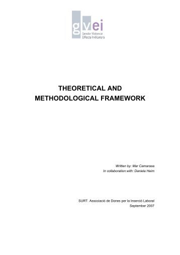 THEORETICAL AND METHODOLOGICAL FRAMEWORK - Surt