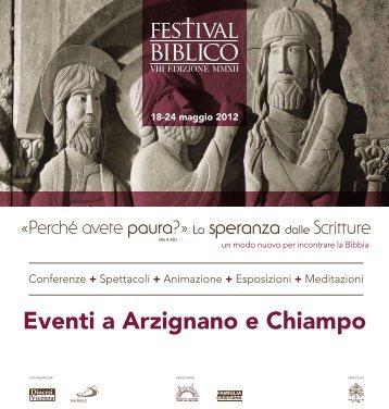Eventi a Arzignano e Chiampo - Festival Biblico