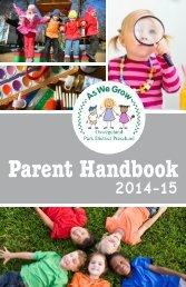 Parent Handbook 2013-2014 - Oswegoland Park District