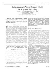 Data-dependent Write Channel Model for Magnetic ... - STAR | UCSD