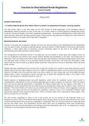 Tourism In Uttarakhand Needs Regulation - Equitable Tourism Options