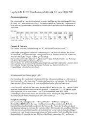 HJ1_2011 Halbjahresfinanzbericht - TC Unterhaltungselektronik AG