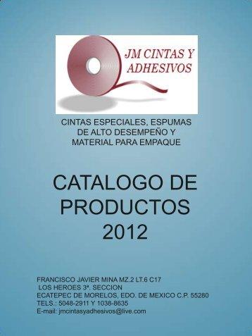 catalogo de productos 2012