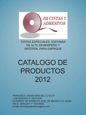 catalogo de productos 2012