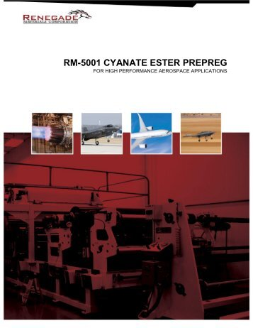 RM-5001 CYANATE ESTER PREPREG - Renegade Materials