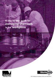 For Managing chemicals in the Workplace ... - WorkSafe Victoria