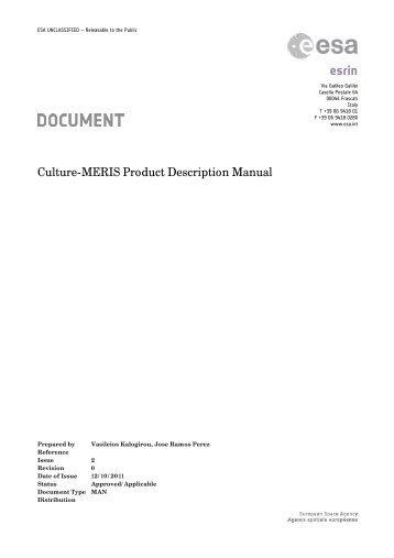 ESA Standard Document - Data User Element