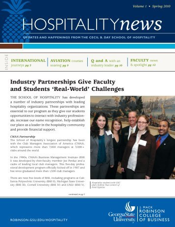 HOSPITALITYnews - Robinson College of Business - Georgia State ...