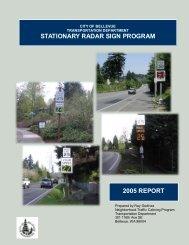 stationary radar sign program 2005 report - City of Bellevue