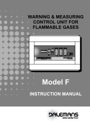 "MODEL ""F"" Control Unit - Dalemans Gas Detection"