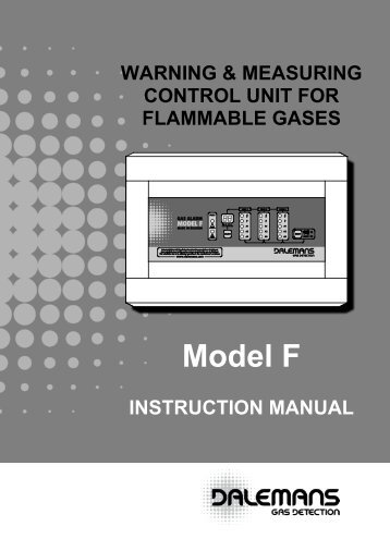 """MODEL """"F"""" Control Unit - Dalemans Gas Detection"""