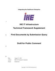 Find Documents by Submission Query - IHE