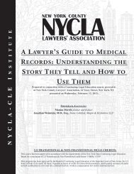 NYCLA - CLEIA LAwyer's Guide to MedicAL records: understAndinG ...