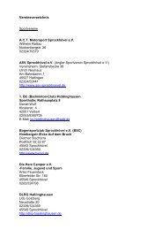 Vereinsverzeichnis Sportvereine A.C.T. Motorsport Sprockhövel e.V. ...