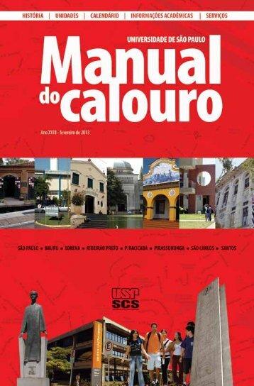 MANUAL DO CALOURO 2013 - USP