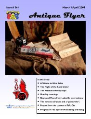 3-4 2009 #261 - Society of Antique Modelers Chapter 27