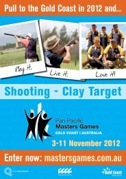 Enter now: mastersgames.com.au  Pull to the Gold Coast in 2012 and...