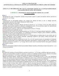 LEGE nr. 63 din 10 mai 2011 privind încadrarea şi salarizarea în ...