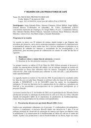 1° REUNIÓN CON LOS PRODUCTORES DE CAFÉ Tema ... - Inecol