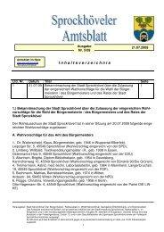Amtsblatt Nr. 5 aus 09 - Sprockhövel