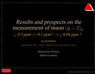 Results and prospects on the measurement of muon - g-2 at Boston ...