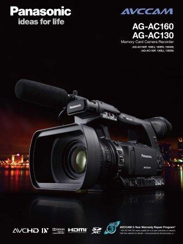 AG-AC160 AG-AC130 - PRO VIDEO