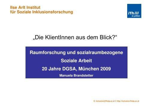 Ilse Arlt Institut für Soziale Inklusionsforschung
