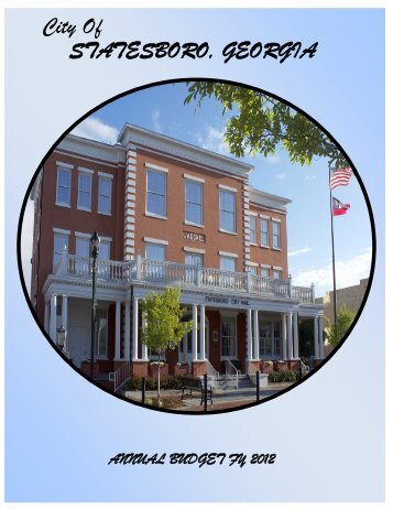 FY 2012 Annual Budget - City of Statesboro
