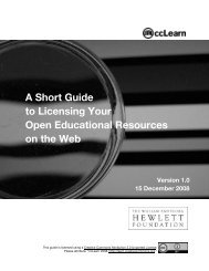 A Short Guide to Licensing Your Open Educational Resources on ...