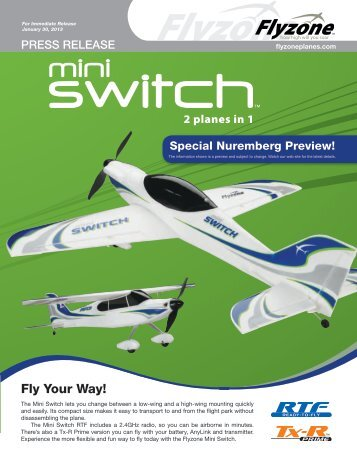 Fly Your Way! - Tower Hobbies