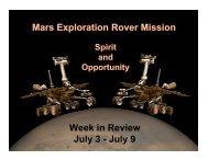 July 9 - Mars Exploration Rover Mission - NASA