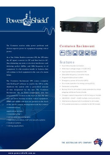PowerShield Centurion Rack 6-10K UPS Brochure