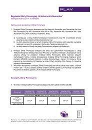 Regulamin Oferty Promocyjnej - All Inclusive dla Abonentów - Play