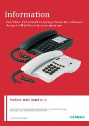 Information Profiset 3005 Hotel V1.0 - Siemens