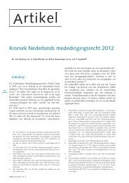Kroniek Nederlands mededingingsrecht 2012 - CMS Derks Star ...