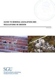 guide to mineral legislation and regulations in sweden