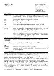 Mon CV - L2C2 - CNRS