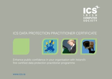 ICS DATA PROTECTION PRACTITIONER CERTIFICATE - IT@Cork