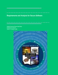 Requirements and Analysis for Secure Software - Build Security In ...