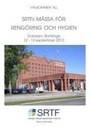 Mässfolder 2012 Gävle-Dala.indd - SRTF