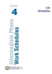 Intermediate Phase W ork Schedules - Curriculum Development