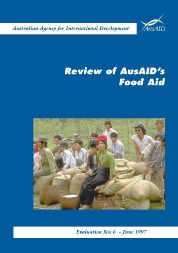 Food Aid Text - AusAID